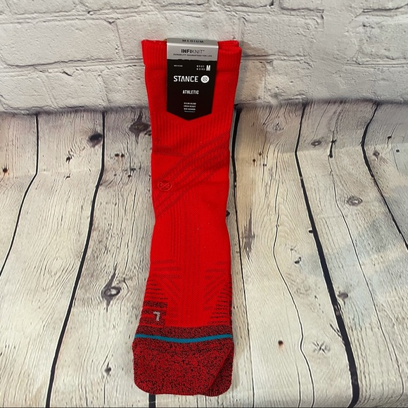 Stance Athletic Red Crew Socks